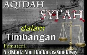 Aqidah Syi'ah Dalam Timbangan