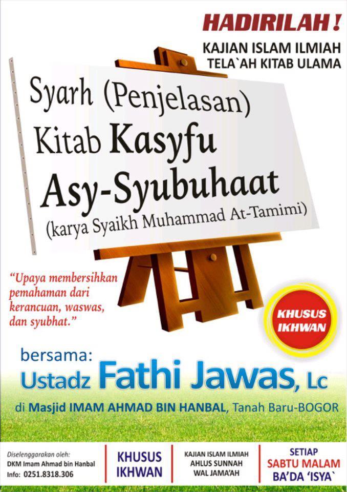 Kajian Kasyfu Syubuhat - Fathi Jawas