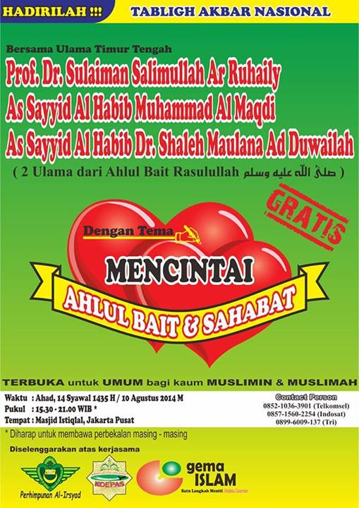 Tabligh Akbar Istiqlal Syawal Agustus 2014