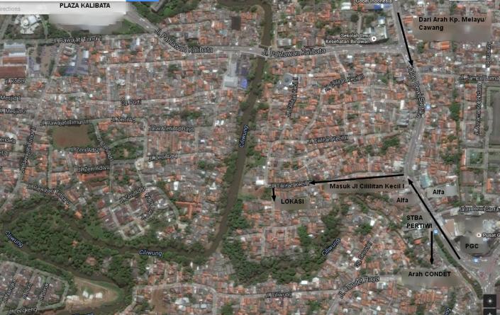 Peta Lokasi Kajian NW Ahad Sore Tafsif Juz 'Amma